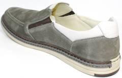 Серые мокасины мужские модные IKOC 3394-3 Gray.