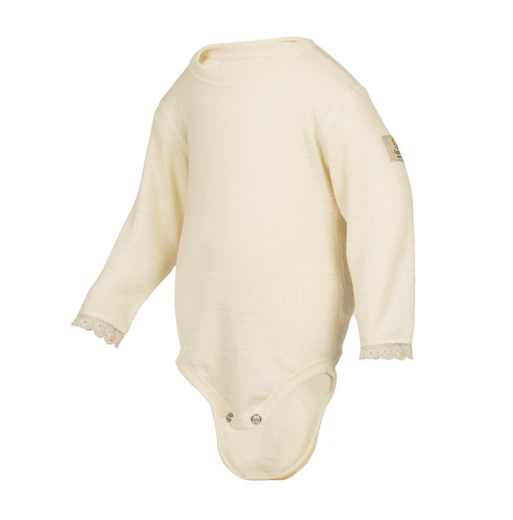 Janus, Боди с кружевом Baby wool, молочный