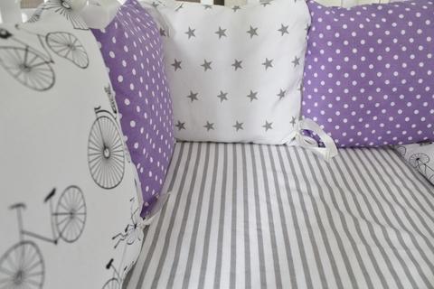 Комплект в кроватку Лавандовое настроение, на 3 стороны кроватки