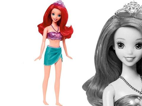 Ариэль Disney Princess, на пляже