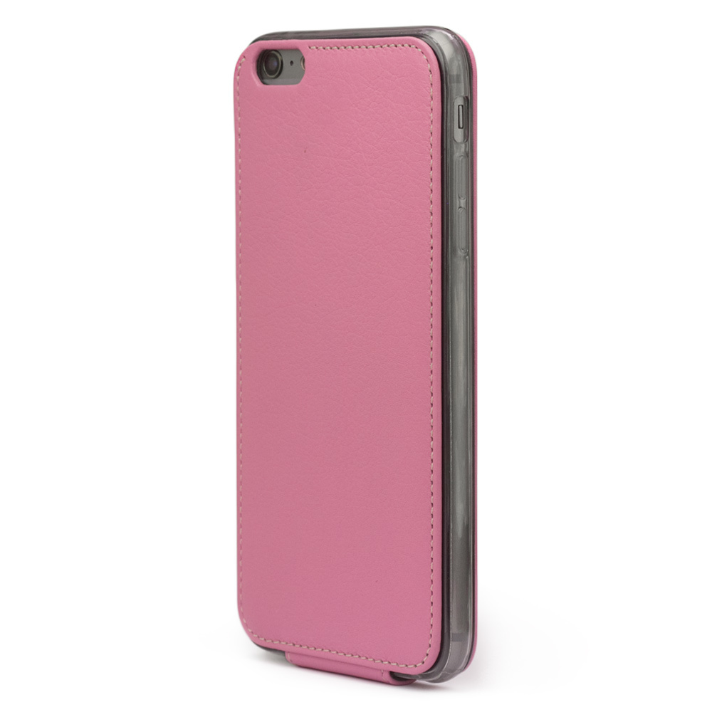 Чехол для iPhone 6/6S из натуральной кожи теленка, розового цвета
