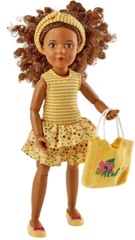 Кукла Джой в летнем желтом наряде, Kruselings (Крузелингс), 23 см