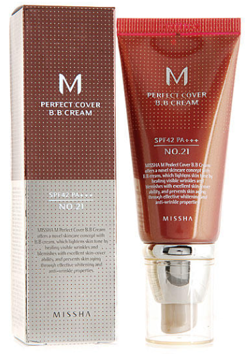 Крем BB Missha Perfect Cover SPF 42/PA+++ 21 Light Beige