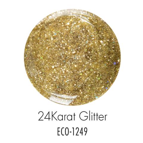 Биогель ECO SO QUICK SOAK OFF мерцающий золотистый 7г