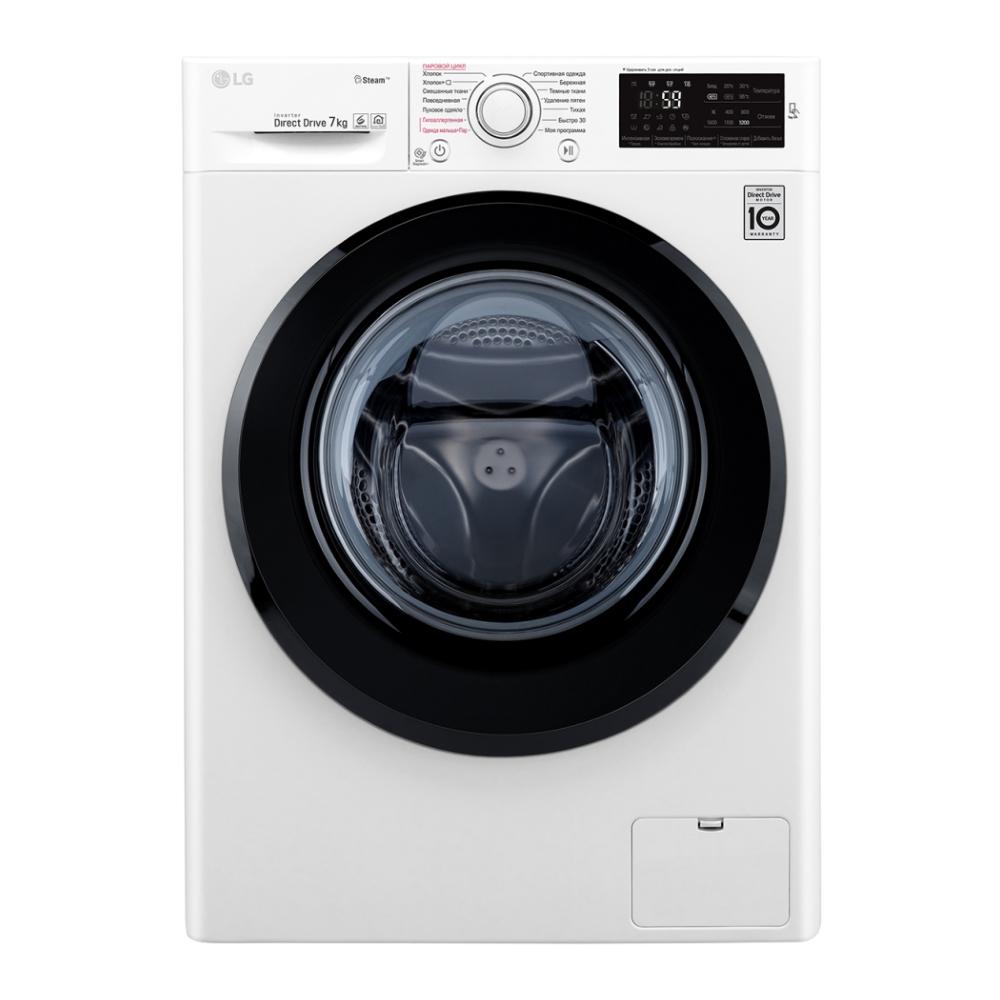 Узкая стиральная машина LG с функцией пара Steam F2M5HS6W фото