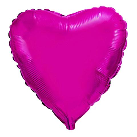 Шар-сердце лиловый, 45 см