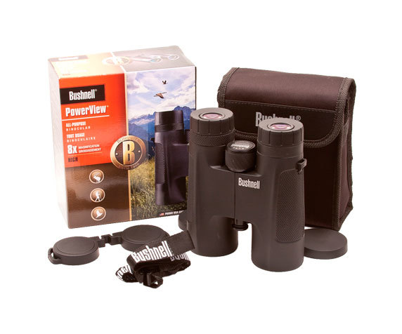 Комплект поставки: бинокль PowerView 8x42, футляр, защитные крышки, ремень.