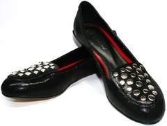 Удобные туфли на низком каблуке Kluchini 5212 k 364 Black.