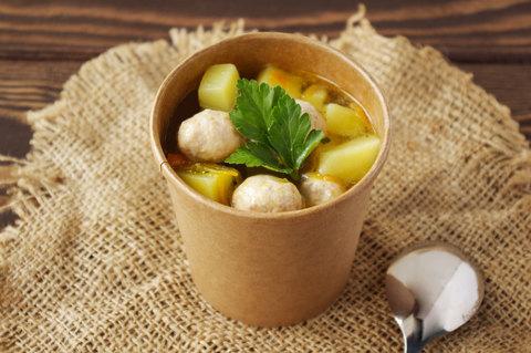 Суп с куринными фрикадельками