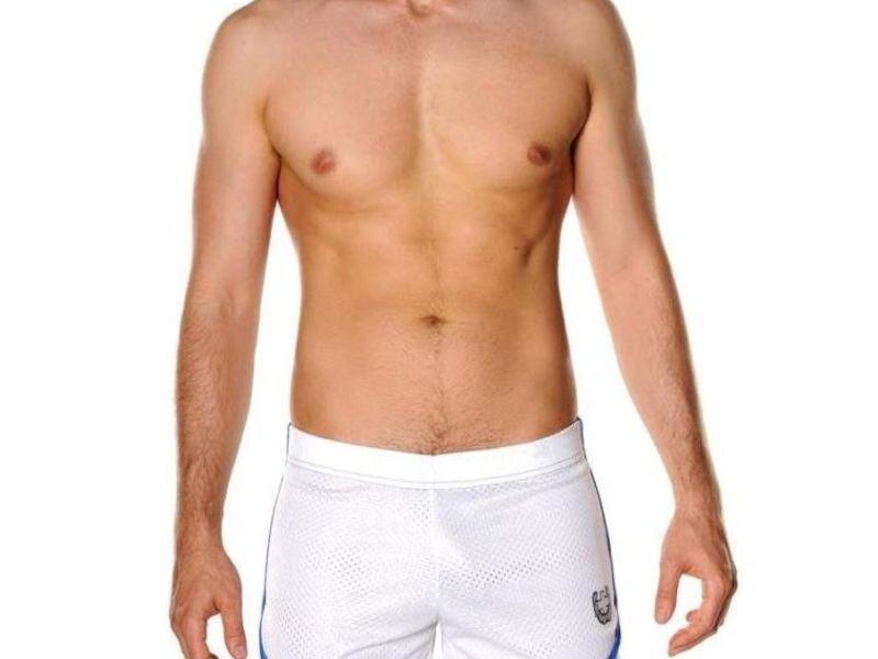 Мужские шорты белые Andrew Christian White Shorts 8329