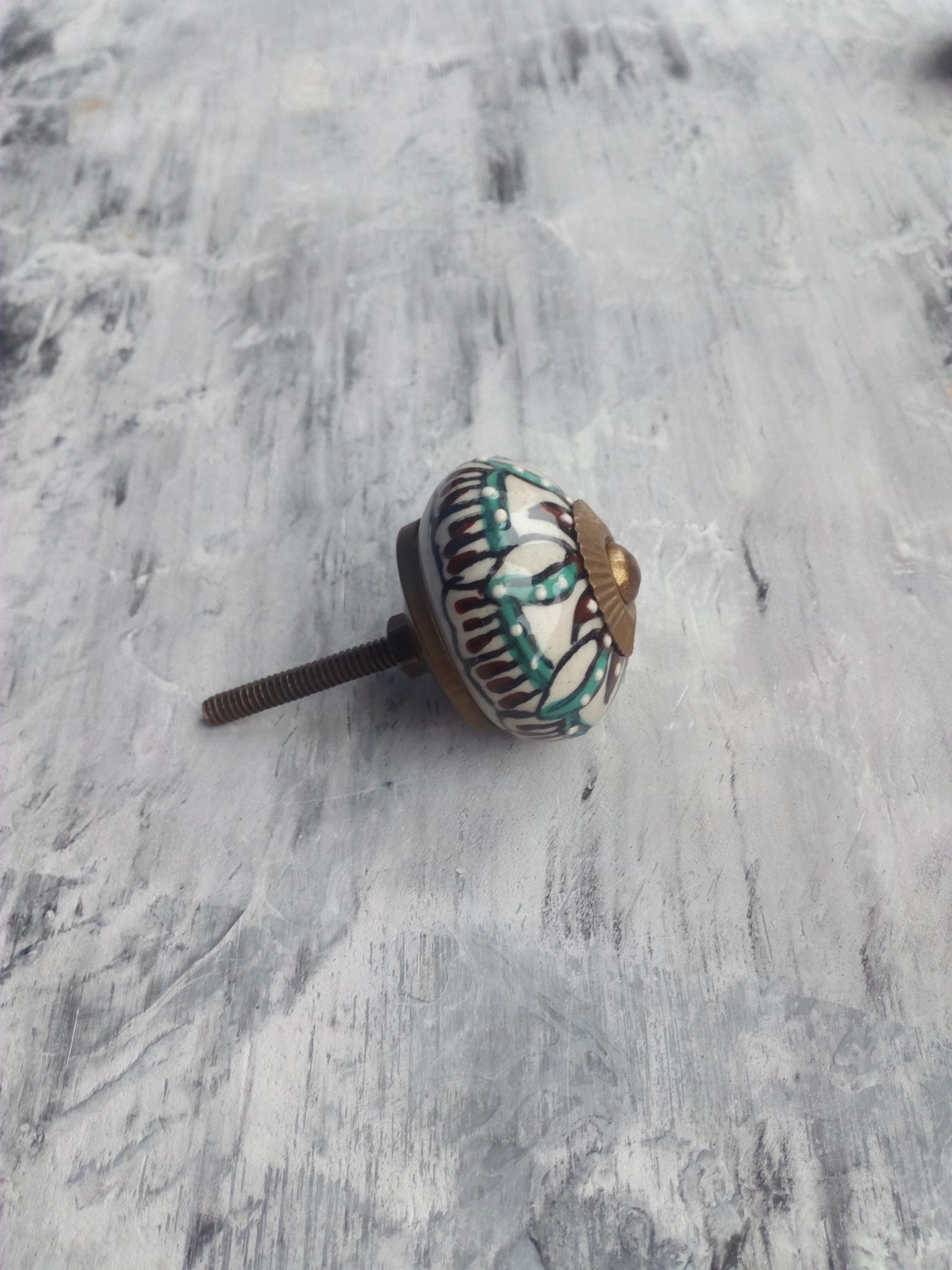 Ручка мебельная керамическая  расписная 43, 00001043