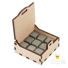 Камни для виски в деревянной коробке Wild West, 9 шт, фото 4