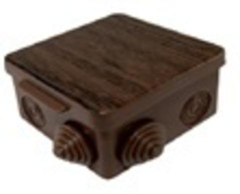 Распаячная коробка ОП 100х100х55мм, крышка, бук,  IP54, 8вх. инд. штрихкод TDM