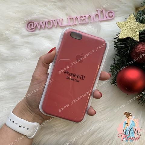 Чехол iPhone 6/6s Silicone Case /camellia/ винный 1:1