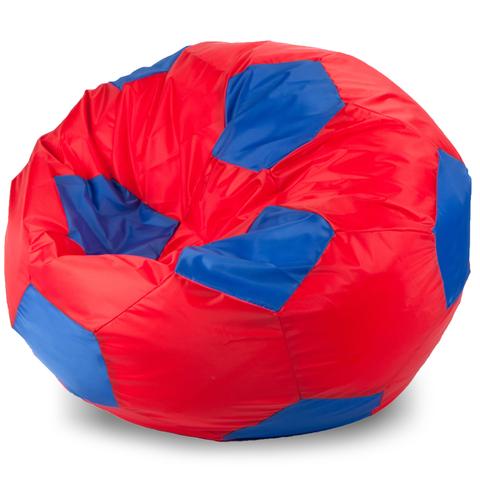 Бескаркасное кресло «Мяч» XXL, Красный и синий
