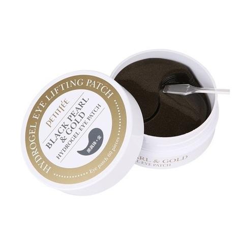 PETITFEE Black Pearl & Gold Hydrogel Eye Patch Гидрогелевые патчи с черным жемчугом(60 шт)
