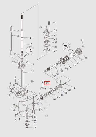 Пробка для лодочного мотора T9.8 Sea-PRO (13-29)