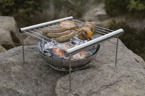 Мангал-Гриль барбекю BBQ раздвижной походный фото