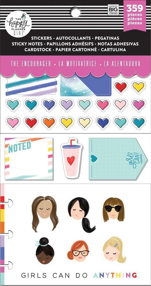 Набор стикерблоков и стекеров Happy Planner Note Cards/Sticky Note Multi Pack - Encourager, 359 шт.