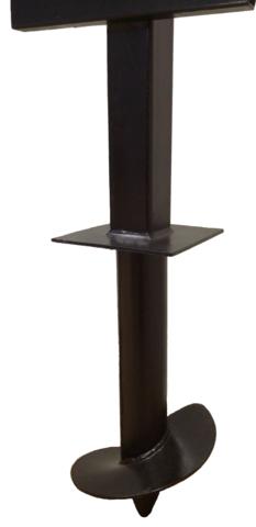 Столб 3,0 метра для забора комбинированный 76/80х80