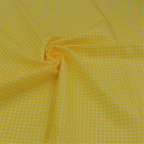 Ткань хлопковая желтая клетка, отрез 50*80 см,