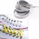 Серебристые шнурки