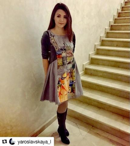 Певица Леся Ярославская в платье