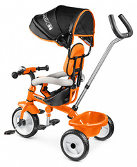 Детский трехколесный велосипед (оранжевый)