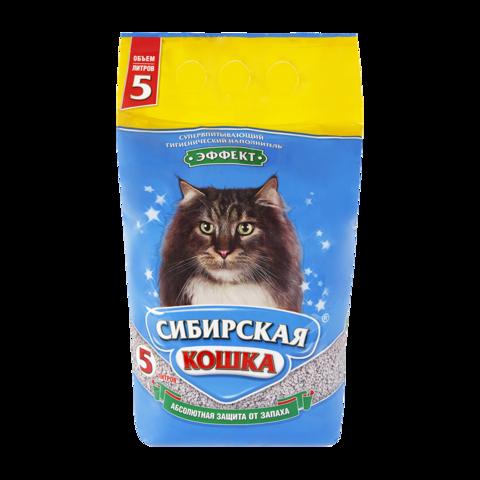 Сибирская кошка Эффект Наполнитель для туалета кошек впитывающий