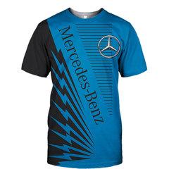 Футболка 3D принт, Mercedes-Benz  (3Д Мерседес-Бенц) 03