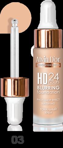 Alvin D`or BC-07 Тональный крем  Hd 24hours Blurring drops 15мл  (тон 03)