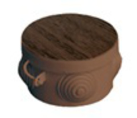 Распаячная коробка ОП D65х40мм, крышка , бук, IP54, 4вх. инд. штрихкод TDM