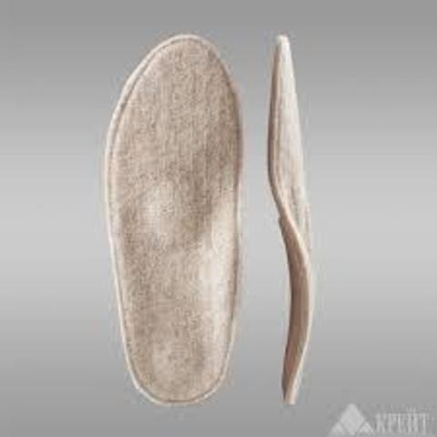 Стельки с покрытием из шерсти и пяточным амортизатором