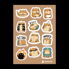Набор стикеров Hamster Senya