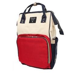 Mommy Bag. Сумка-рюкзак для мамы, красный/белый/синий