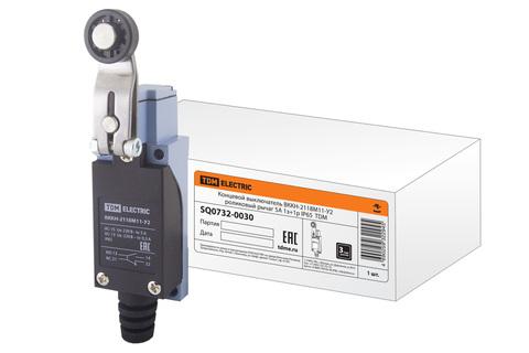 Концевой выключатель ВККН-2118М11-У2 роликовый рычаг 5А 1з+1р IP65  TDM