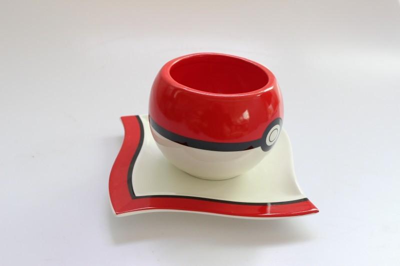 Покемон Набор керамический кружка с блюдцем Покебол — Pokemon Pokeball