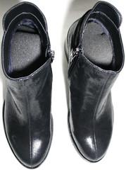 Ботильоны черные на низком каблуке