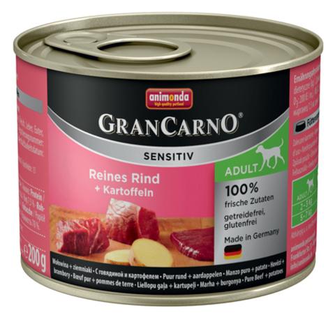 Консервы Animonda Gran Carno Sensitiv c говядиной и картофелем для собак с чувствительным пищеварением