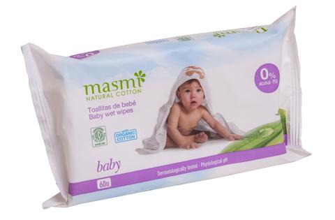 MASMI Органические влажные салфетки для детей,  60 шт