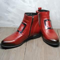 Осенние ботинки женские красные Evromoda 1481547 S.A.-Red