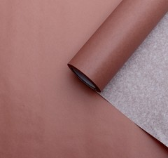 Калька для цветов вощеная, цвет розовая медь, 0,53 х 18 м