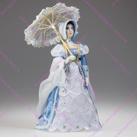 Кукла в костюме начала 19 века