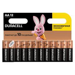 Батарейки Duracell пальчиковые АА LR6 (12 штук в упаковке)