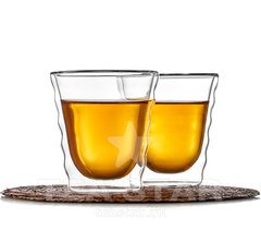 Два стакана с двойными стенками, формы Hario, 180 мл
