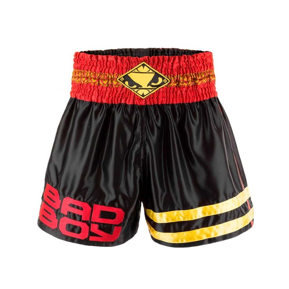 Шорты Шорты Bad Boy Tii Sok Muay Thai Shorts - Black/Red/Gold Шорты_Bad_Boy_Tii_Sok_Muay_Thai_Shorts_-_BlackRedGold.jpg