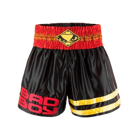 Шорты Bad Boy Tii Sok Muay Thai Shorts - Black/Red/Gold