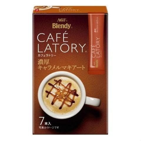 Кофе АГФ стик AGF CAFE LATORY Карамель-Маккиато в стиках (11гр х 7 ) 45,5г