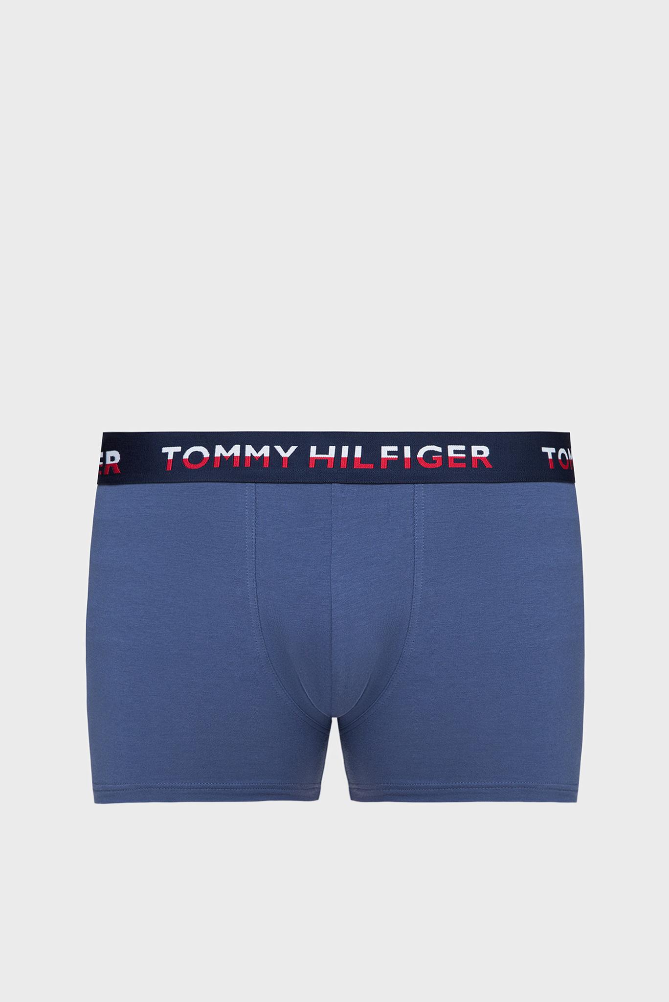 Мужские синие боксеры TRUNK PRINT  (2 шт) Tommy Hilfiger