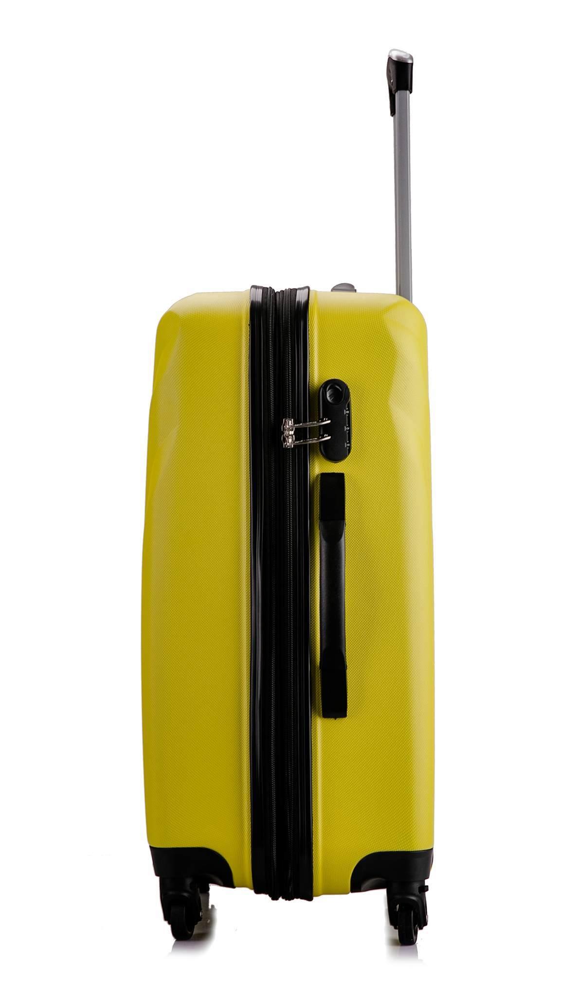 Чемодан с расширением L'case Phuket-20 Желтый ручная кладь (S)